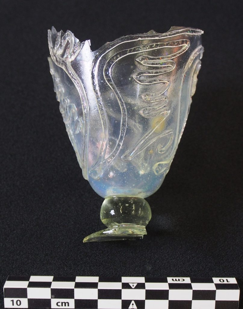 Figura 3. Copa de vidre localitzada al derelicte Aiguablava VII
