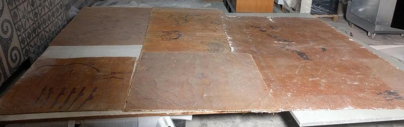Reproduccions de les pintures rupestres abans de la intervenció de conservació-restauració. MAC. Conservació-restauració