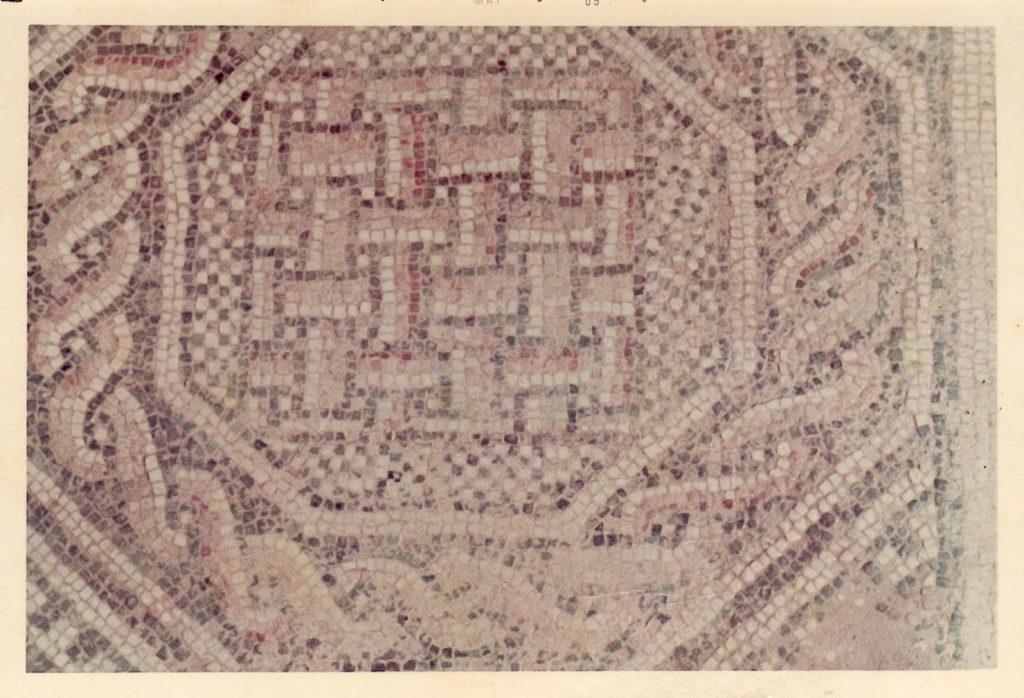 Fig. 5. Detall de l'esparteria del mosaic. Foto: Enric Bardina